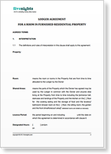 House sharing agreement template roommate agreement for House sharing agreement template